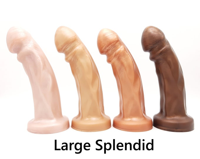 The Splendid Dual-Density Dildo in Sweet Tooth Colors (Large Size)