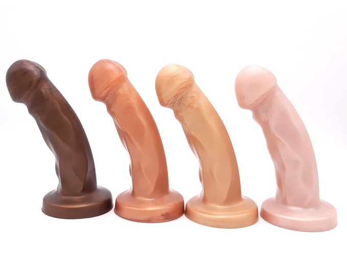 The Splendid Dual-Density Dildo - Medium Size - Semi Realistic Colors