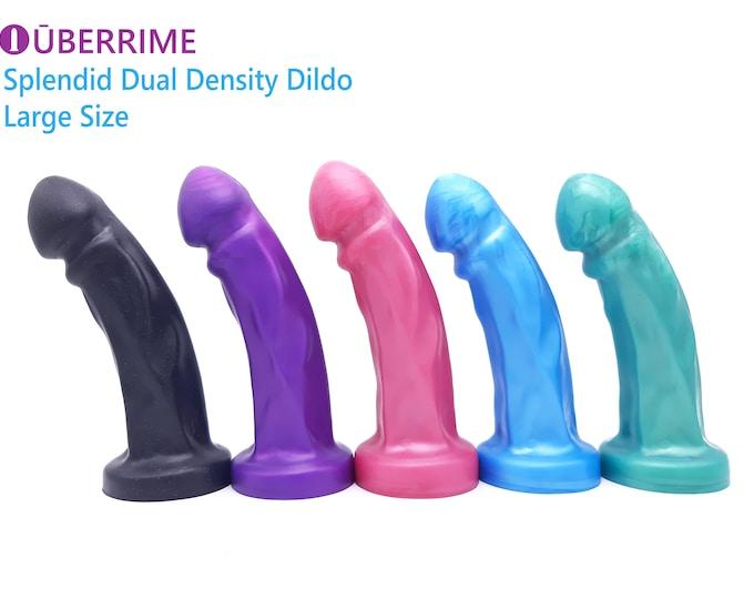 The Splendid Dual-Density Dildo in Core Colors (Large Size)