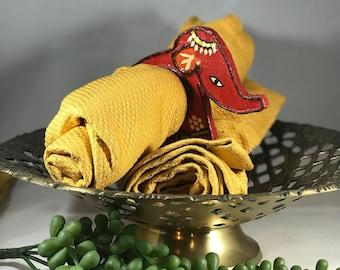 Adorable set of 4 bohemian elephant napkin rings