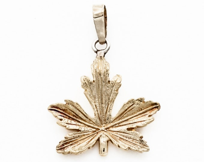Featured listing image: Sweet petite Canadian Maple Leaf Pendant or Charm in 18K Gold with optional 15 inch 14K gold chain. Perfect gift for your favorite Canuck!