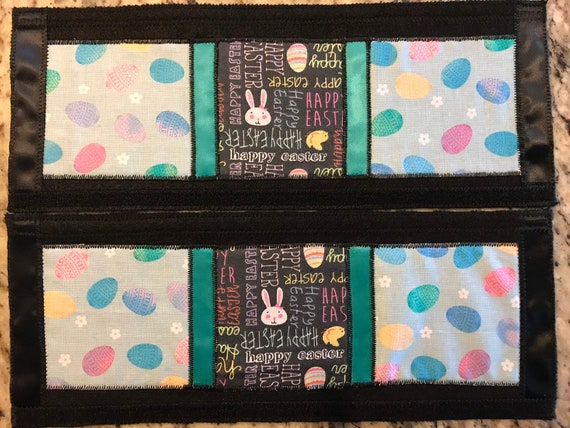 Refrigerator Door Handle Covers Set of Four Easter Bunny Theme 13 L x 4.5-5\u201d W