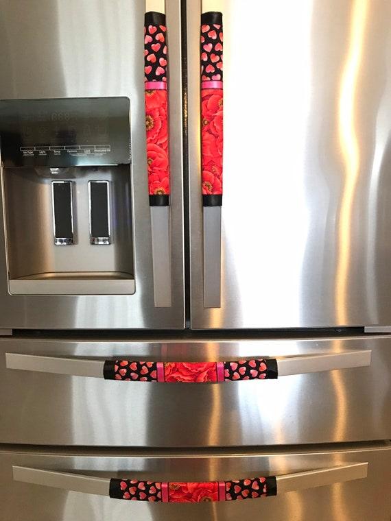 Refrigerator Door Handle Covers Set of 2 Kitchen Appliances
