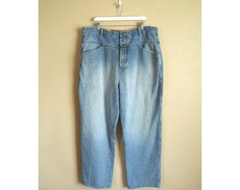 d7277b80 Vintage Marithe Francois Girbaud Size 40 Super Baggy Herringbone Twill Denim  Carpenter-Style Jeans. Designer Jeans. France. XL. Tapered.