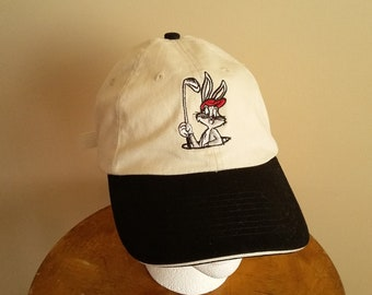 b952008ab6a4 Vintage Unisex Embroidered Bugs Bunny Golf Hat. 100% Cotton. Normcore.  Dadcore.  Fersten Elite Collections . Adjustable Strap. Looney Tunes.