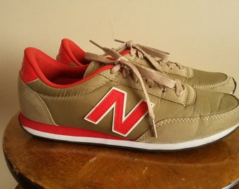 finest selection ad478 f2b60 Vintage 80s 90s Men s New Balance 410 Sneakers. Size 7.5 US. Size 7 UK.  Trainers. Running Shoes. Normcore. Red. Gold. Made In Vietnam.