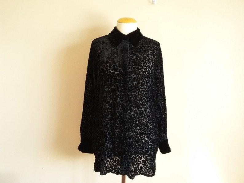 2089e65b Vintage 90s Women's Deane & White Black Burnout Velvet | Etsy