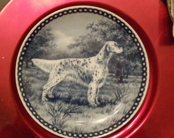Dog Plate by Tove Svendsen: Irish Setter Hundeplatte