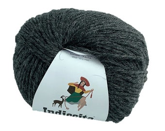 Indiecita 100% Baby Alpaca Yarn 50 gram skeins in DK weight- Charcoal- Knitting/Crochet Yarn for all projects!