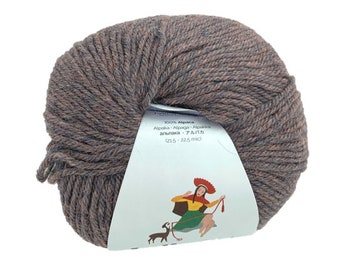 Indiecita 100% Baby Alpaca Yarn 50 gram skeins in DK weight- Dusk Melange- Knitting/Crochet Yarn for all projects!