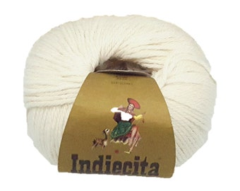 Indiecita 100% Baby Alpaca Yarn in 50 gram skeins in DK weight- Multiple Colors available- Knitting/Crochet Yarn for all projects!