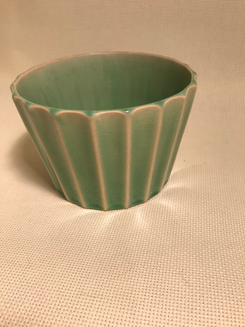 Green Fluted Bowl