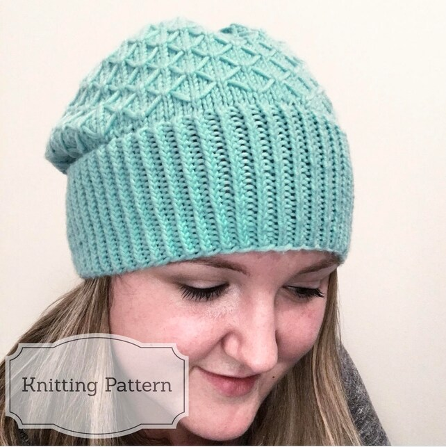 Marcia Slouchy Beanie Knitting Pattern Hat Knit Toque How To Etsy