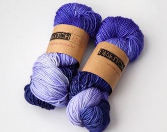 Perfectly Purple | Worsted Weight Yarn | 100% Merino