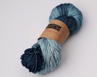 Steely Blue | Worsted Weight Yarn | 100% Merino