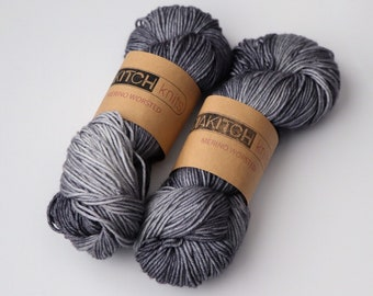 Greyed Out | Worsted Weight Yarn | 100% Merino