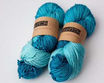 Twisted Turquoise | Worsted Weight Yarn | 100% Merino