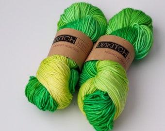 Celery | Worsted Weight Yarn | 100% Merino