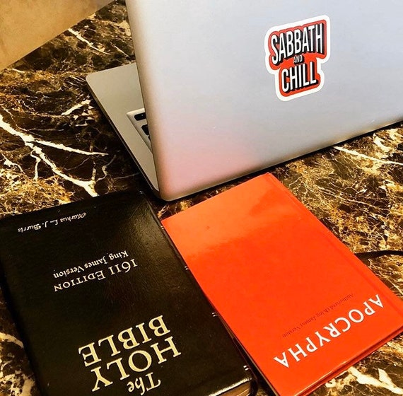 Sabbath and chill Bubble-free stickers