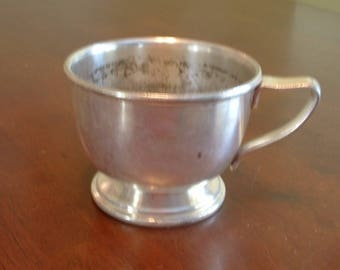 Antique Cecilware Camp  Mug /Cup    Silver/Nickel
