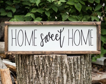 Home Sweet Home Sign, Wood Sign, Home Sign, Rustic Decor,  New Home Gift, Home Decor, First Home Gift, Farmhouse Home Decor,