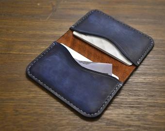 Handmade Leather Bi-fold Card Holder / Simple Wallet / Vegetable Tanned / Australian Made