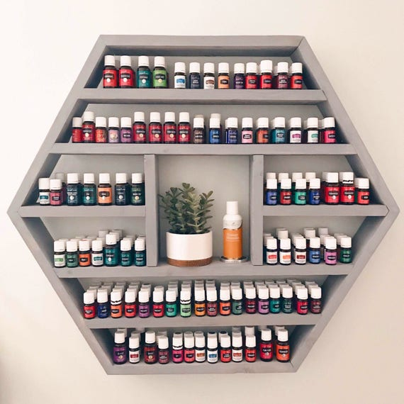 The Shelby Shelf Extra Large Hexagon Shelf Essential Oil