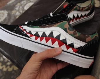 833069070b16 Custom Bape Vans