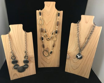 Premium 12x20cm Necklace Display Bust Stand Mannequin Jewelry Display Holder