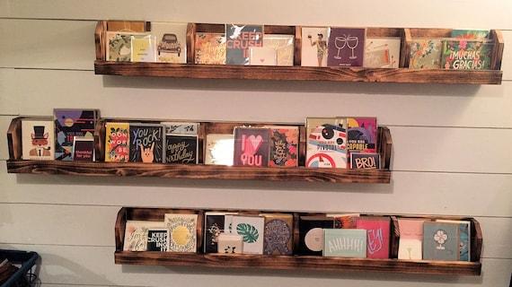 Greeting card display shelf rustic reclaimed cedar wood etsy image 0 m4hsunfo