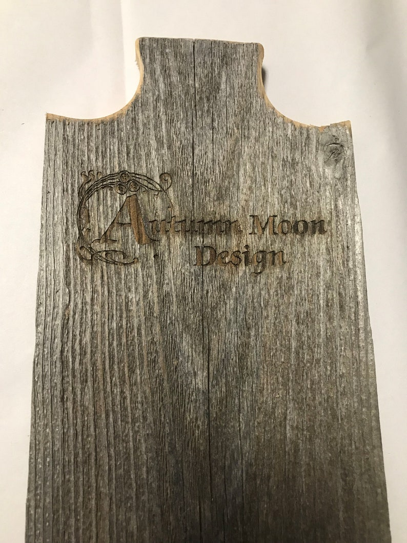 Add a Laser Engraved Logo to your display!
