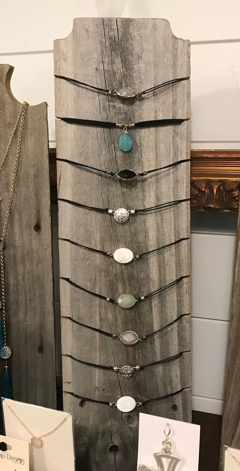 Jewellery Stand Designs : Choker necklace stand in weathered wood or raw cedar jewelry etsy