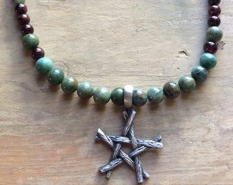 Star Semi Precious Gemstone Necklace