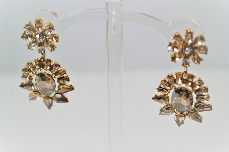 6a8b521e296b9 Champagne Crystal Chandelier earrings