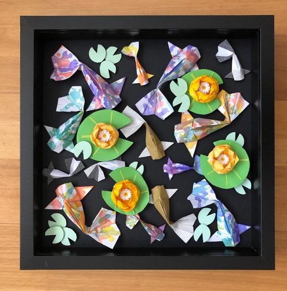 Koi Pond Shadow Box Frame Art Limited Edition 30 X 30cm Etsy