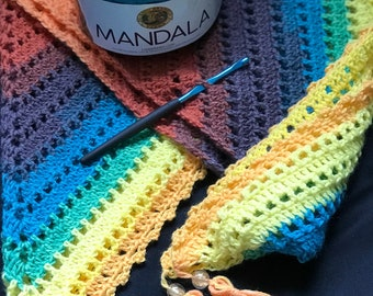 Crochet Triangle Scarf // Handmade