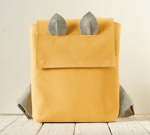 Pockets Backpack Pdf Sewing Pattern Student Backpack Tutorial Etsy