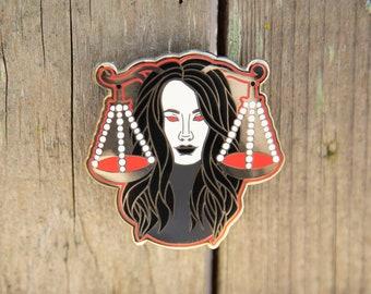 Libra Zodiac Sign Enamel Pin