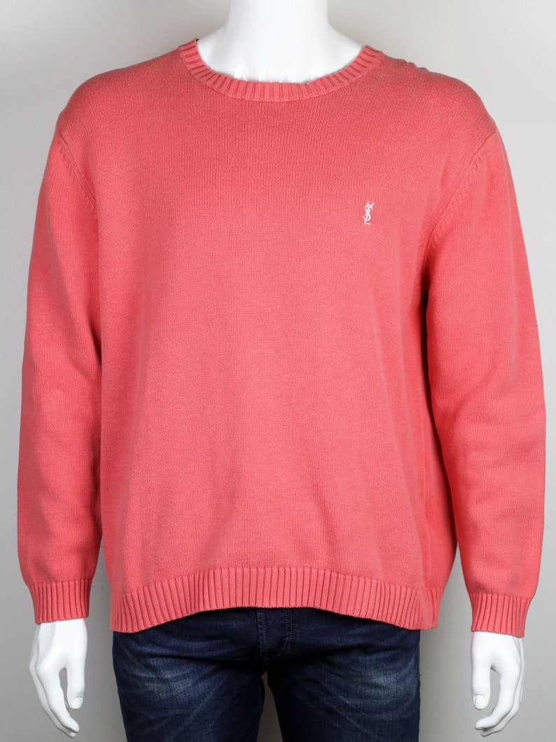 cc4f58d4bb6 Yves Saint Laurent Mens Vtg Knitted Sweater Sz XL