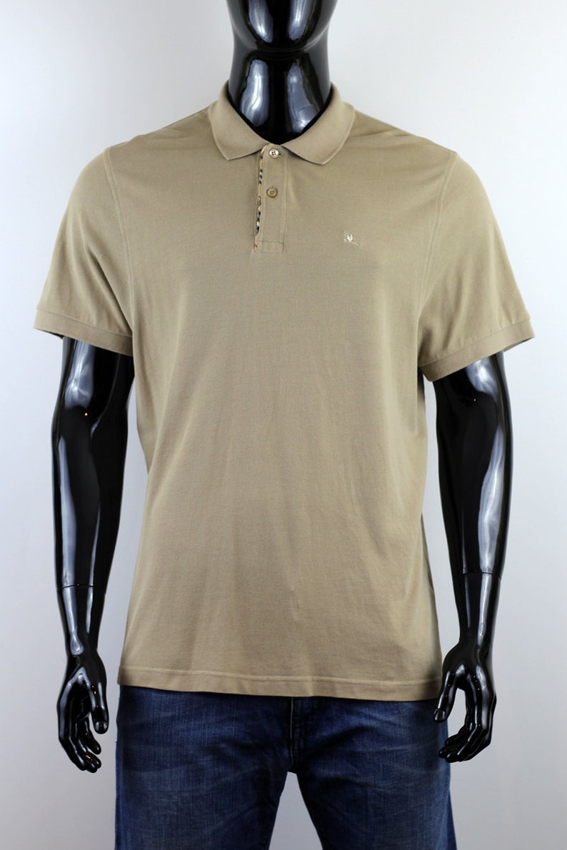 807d15d89 Burberry Men's Beige W Nova Check Details Polo Shirt Size   Etsy