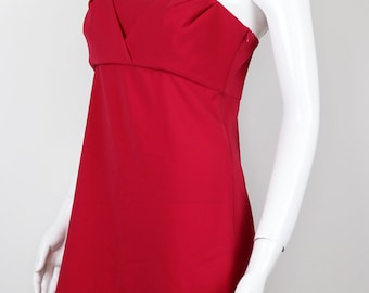 Moschino Womens Red Summer Dress Size 42