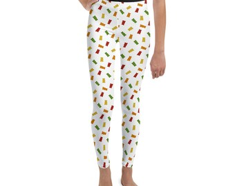 0e9e564325 Gummy Bear Print Youth Leggings
