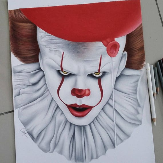 Pencil Drawing Pennywise Drawing Face