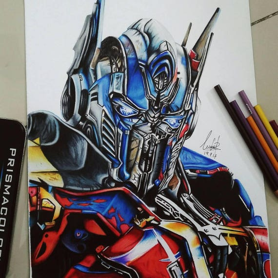 Drawing of optimus prime etsy - Dessin optimus prime ...