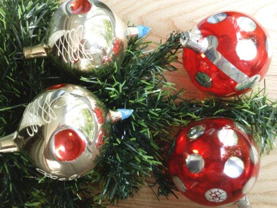 Christmas Tree Toys Decoration.Soviet Vintage Christmas Ornament Christmas Balls Collectible Vintage Glass Toys Ussr Glass Christmas Decorations Xmas Tree Toy
