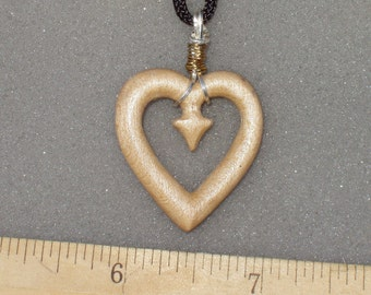 Wrapped One Way Heart Necklace
