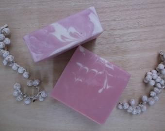 Rose Geranium & Pink Clay luxury essential oil soap 105g+