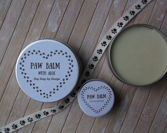 PAW & NOSE BALM with Aloe - 20ml tin - natural oils and butters with added besswax