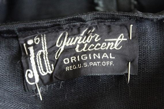 Vintage 1950s gray and black striped twead swing … - image 10