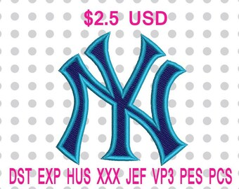 New York Yankees Logo Machine Embroidery Design 7 Sizes-INSTANT DOWNLOAD